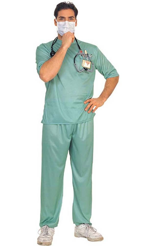 er surgeon doctor mens womens medical scrubs fancy dress. Black Bedroom Furniture Sets. Home Design Ideas