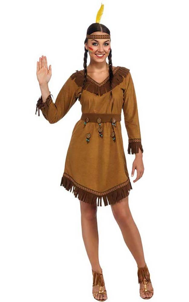 Native American Indian Pocahontas Woman Adult Fancy Dress
