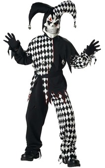 CHILD BOYS EVIL SCARY JESTER CLOWN