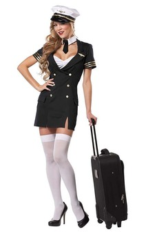 Ready for Take Off Sexy Retro Pilot Adult Costume