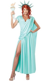 Lady Liberty Adult American Costume