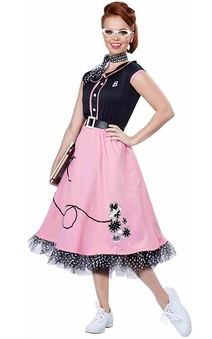 50s Sweetheart Adult Poodle Skirt Costume