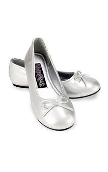Adult Star Silver Ballet Flats Shoes