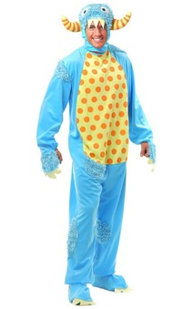 Blue Fun Monster Adult Costume