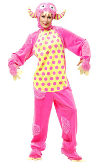Pink Adorable Monster Adult Costume