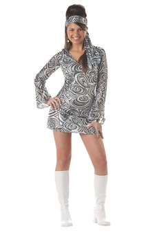 Disco Diva 60s 70s Teen Costume