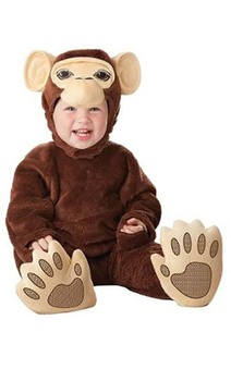 Chimpanzee Infant Monkey Costume