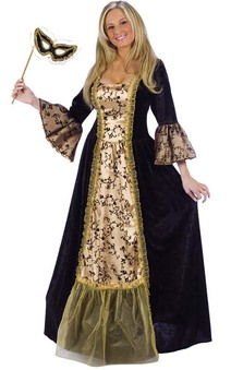 Masquerade Queen Medieval Adults Costume
