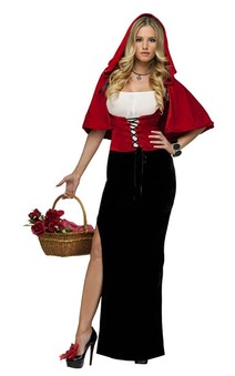 Dark Little Red Riding Hood Adults Costume