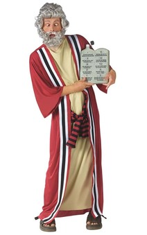 Moses costume and Commandments Drinking Container