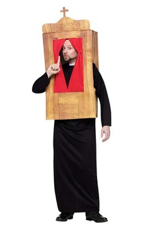 Priest Confession Box Fun Novelty Adult Costume