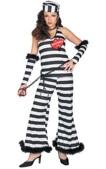 Prisoner Of Love Adult Jail Costume