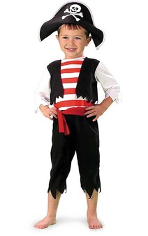 Pint Size Pirate Toddler Costume