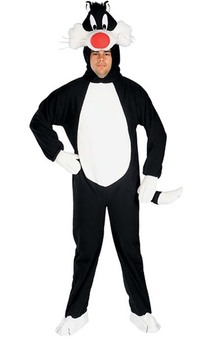 Sylvester Adult Looney Tunes Cat Costume