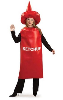 Ketchup Bottle Tomato Sauce Adult Costume