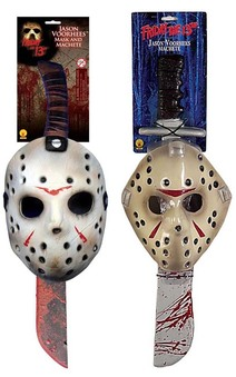 Jason Voorhees Mask & Machete Set Adult Costume