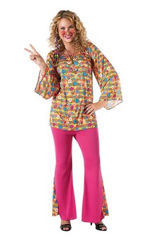 Big Mama Adult 60's Hippy Costume