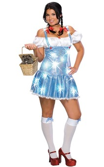 Sexy Dorothy Adult Plus Wizard of Oz Costume