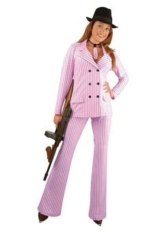 Pink Gangster Adult Costume