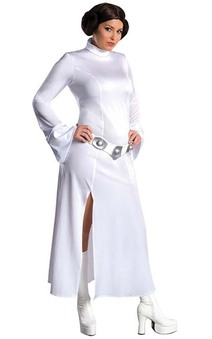 LICENSED PRINCESS LEIA STAR WARS WOMENS PLUS SIZE FANCY DRESS HALLOWEEN COSTUME