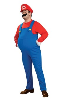 Mario Bros Deluxe Mario Adult Plus Costume