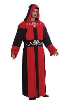 Gothic Hooded Robe Adult Plus Costume