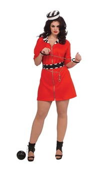 Convict Girl Adult Jail Costume