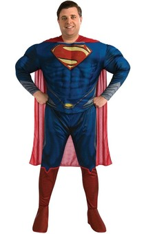 Man Of Steel Superman Deluxe Adult Plus Costume