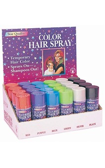 Hairspray Red Green Blue Purple Black Silver
