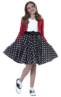 Polka Dot 1950s Rocker Child Costume