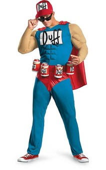 The Simpsons - Duffman Classic Muscle Adult Costume
