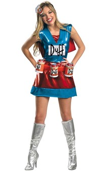 The Simpsons Duffman Duffwoman Deluxe Adult Costume