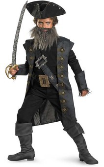 Blackbeard Pirate Child Costume