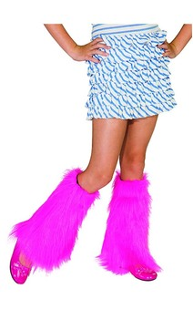 Pink Fluffies Child Leg Warmers