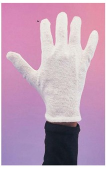 A Pair Of White Cotton Magicians Glove