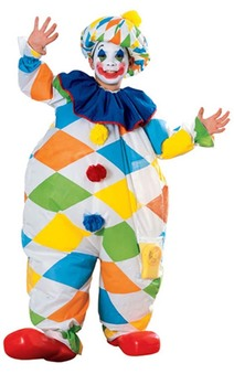Inflatable Clown Child Costume