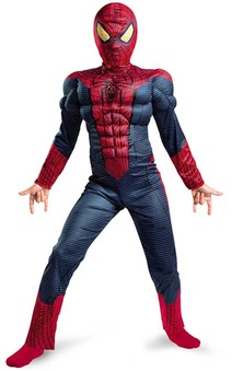 Amazing Spiderman Muscle Chest Light Up Child Costume
