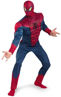 Amazing Spiderman Muscle Chest Adult Costume