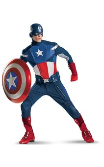 ADULT MENS ELITE THE AVENGERS CAPTAIN AMERICA