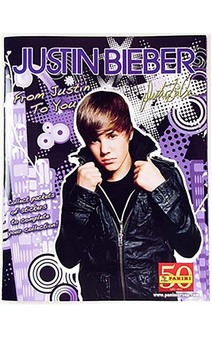 Licensed Justin Bieber Sticker Album Book