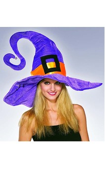 Funky Purple Witch Adult Hat