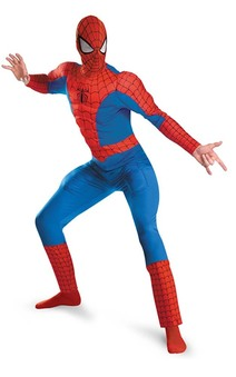 Spiderman Deluxe Muscle Chest Adult Plus Costume