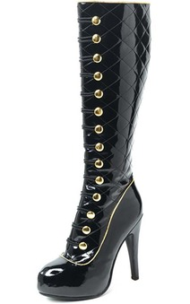Black Knee High Uptown Stiletto Adult Shoes