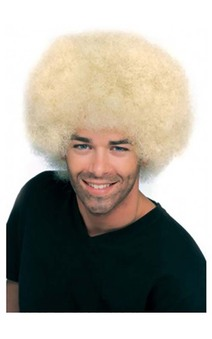 Deluxe Blonde Afro Adult Wig