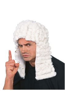 White Judge Adult Wig