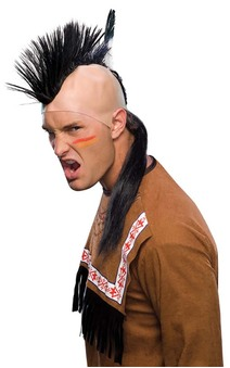 Indian Brave Mohawk Adults Costume Wig