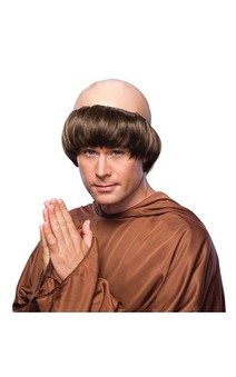 Monk Adult Religious Wig
