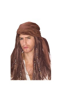 Jack Sparrow Caribbean Pirate Wig