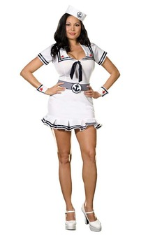 Cruise Cutie Navy Sailor Adult  Plus Costume