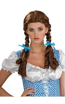 Deluxe Dorothy Wizard of Oz Brown Wig